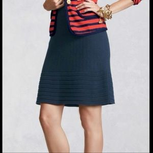 CAbi Navy Knit A-Line Skirt